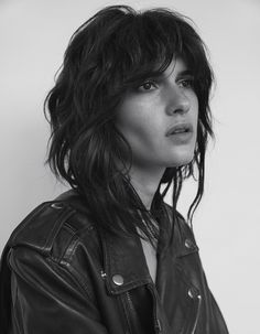 Model Iana Godnia By Jesse Laitinen Mullet Haircut, Mullet Hairstyle, Short Haircut, The Shag Haircut, Cut My Hair, Her Hair, Hair Cuts, Shag Hairstyles, Pretty Hairstyles