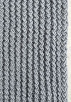 Rick Rack Rib Stitch. Plus free pattern for Rick Rack Scarf | The Purl Bee