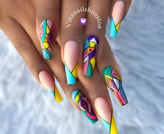 [New] The 10 Best Nail Ideas Today (with Pictures) - Love Nails By Best Acrylic Nails, Acrylic Nail Designs, Nail Art Designs, Acrylic Art, Nail Swag, Fancy Nails, Bling Nails, Fabulous Nails, Gorgeous Nails