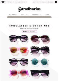 sunglasses newsletter, stradivadius email design www.datemailman.com