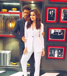 Shah Rukh Khan and Alia Bhatt on Koffee With Karan. #Bollywood #Fashion #Style #Beauty #Hot #Sexy