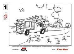 kleurplaat brandweer