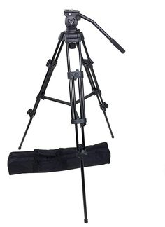 ePhotoInc Professional Heavy Duty Tripod Video Camera W/ Fluid Pan Head for DSLR Camcorder FT717