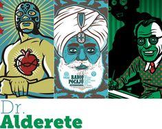 Il·lustra'ns: Dr. Alderete! | El polifacètic artista Dr. Alderete té un estil propi, influenciat per la cultura pop, la lluita lliure, la música surf i les pel·lícules de ciència-ficció dels anys cinquanta. #illustration #disseny