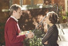 """""""I brought you flours."""" I loved this moment.so much. STRANGER THAN FICTION. so underrated. Will Ferrell and Maggie Gylenhaal Sarsgaard"""