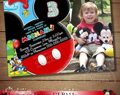 invitations party printables for all occasions by theprintableoccasion find this pin and more on mickey mouse clubhouse