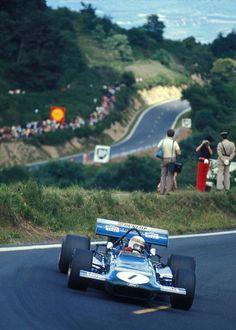 Jackie Stewart - 1970 French GP - March 701 Ford Cosworth Nos tempos em que o piloto era 90%, o nº1 dizia alguma coisa