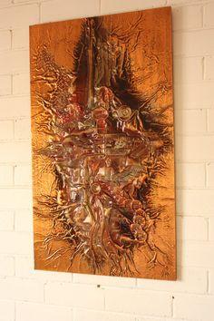 Retro Mid Century Eames Era Abstract Copper by TriBecasVintage, $90.00