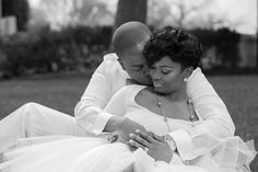 African American wedding engagement photos