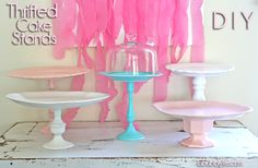 Easy & inexpensive- Cake Stands Galore Thrifty DIY