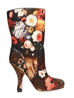 ShopStyle: 110mm Gisele Brocade Cotton Boots