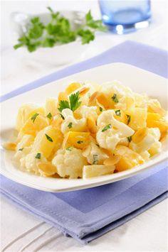 Sałatka z kalafiorem/ Salad with cauliflower, www. Appetizer Salads, Appetizers, Polish Recipes, Polish Food, Cantaloupe, Cauliflower, Macaroni And Cheese, Good Food, Food And Drink