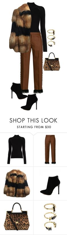 """Untitled #591"" by nezahat-kaya ❤ liked on Polyvore featuring Marco de Vincenzo, Dolce&Gabbana and Noir Jewelry"