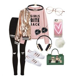 """""""Girly Sheeq"""" by nedixon on Polyvore featuring adidas, Sans Souci, Pryma, Dolce&Gabbana, Witch Worldwide, Casetify and Charlotte Russe"""