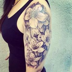 Best Sleeve Tattoos Ideas For Indian Girls: Floral Sleeve Tattoo Sleeve Tattoos Tumblr, Tattoos For Women Half Sleeve, Best Sleeve Tattoos, Arm Tattoos For Women Upper, Tattoo Lily, Mädchen Tattoo, 100 Tattoo, Tattoo Drawings, Best Tattoo Designs