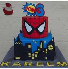 Superhero Cake - Cake by Jaymie I love the top part of this cake!