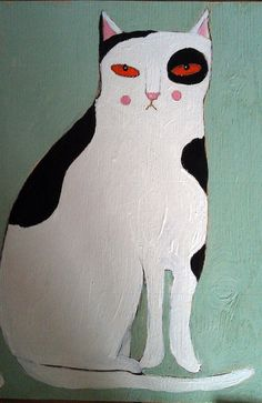 Large black and white cat. Sally Wolfe a.k.a. Oswald Flump