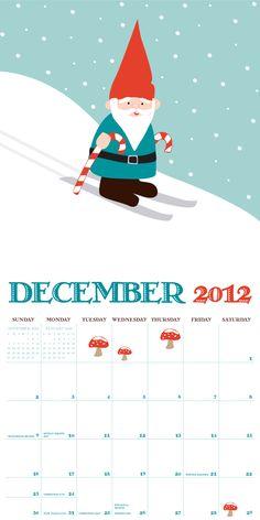 Skiing Gnome, Dec 2012