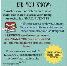 You bought the book, you read it, you may or may not have enjoyed it. You finished it, you moved on. You don't owe the author anything. You paid for his/her product, both of you benefited fro… Amazon Reviews, Book Reviews, Got Books, Children's Books, Writing Tips, Writing Resources, Writing Workshop, Writing Prompts, Book Lovers