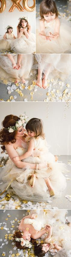 Sweet Glitter Tea Party Styled Shoot - Mommy Daughter Photo Ideas