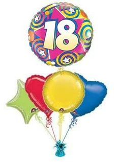 18 STARS SWIRLS Balloon King 18th Birthday Balloons