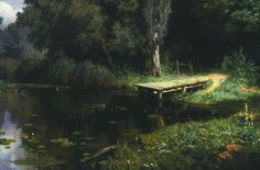 Vasily Dmitrievich Polenov (1844�1927)  Pond, 1879  Oil on canvas  The Tretyakov Gallery, Moscow, Russia