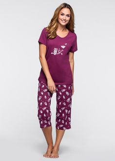 1db9693f2db4d3 Pyjama. PyjamabroekCapri. Pyjama bessen wit - bpc bonprix collection nu in  de onlineshop van bonprix-fl.be vanaf ...
