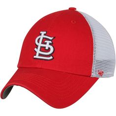 9edabe978ae5f Men s St. Louis Cardinals  47 Red White Blue Hill Closer Flex Hat