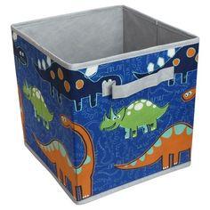 Circo™ Dinosaur Print Non-Woven foldable Square Cardboard Bin - Blue