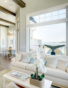 Family Vacation Beach House *Wall Paint Color Is Sherwin Williams Sea Salt.