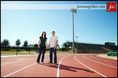 Engagement shoot at the #USF track stadium.
