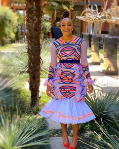 Pedi Traditional Attire, Traditional Dresses Designs, African Traditional Wedding, African Traditional Dresses, African Print Fashion, African Fashion Dresses, African Prints, Ankara Fashion, Fashion Prints