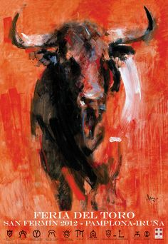 Cartel de la Feria del Toro 2012. Diego Ramos, Colombia, bajo encargo de la Casa de Misericordia