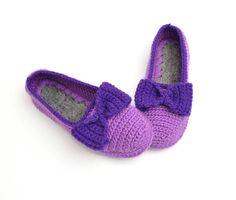 Zapatillas de casa ganchillo Crochet zapatillas por JoyForToes