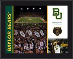 Baylor Bears Sublimated 10x13 Team Photo Plaque $29.99