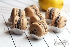 Poppy Seed Macarons :: Home Cooking Adventure