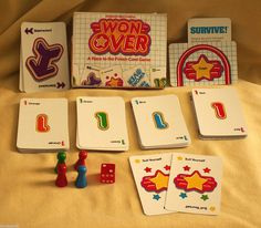 WON OVER CARD GAME PARKER BROTHERS 1983 NO 707 COMPLETE RACE TO THE FINISH LINE #ParkerBrothers