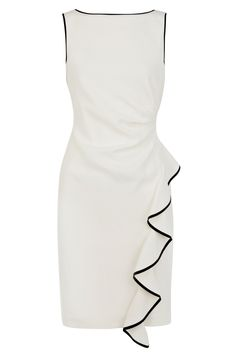 Beautiful, classy, ruffled, dress! Perfect for a bride at her rehearsal/dinner! :)