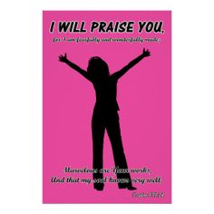 >>>This Deals          I Will Praise You - Psalm 139:14 Pink Silhouette Poster           I Will Praise You - Psalm 139:14 Pink Silhouette Poster today price drop and special promotion. Get The best buyThis Deals          I Will Praise You - Psalm 139:14 Pink Silhouette Poster Online Secure ...Cleck Hot Deals >>> http://www.zazzle.com/i_will_praise_you_psalm_139_14_pink_silhouette_poster-228397990119728013?rf=238627982471231924&zbar=1&tc=terrest