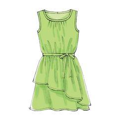 Cute tunic for girls  M6787   Girls'/Girls' Plus Dresses, Tunic, Belt and Leggings   Girls/Boys   McCall's Patterns