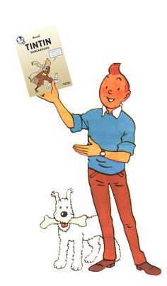 Tintin // this is kind of trippy if you think about it too hard.
