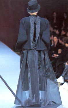 "Would love to do this with a lapel. "" Yohji Yamamoto Fall/Winter 1995 """
