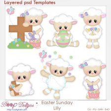 Easter Sunday Lilly Layered Element Templates cudigitals.com cu commercial scrap scrapbook digital graphics#digitalscrapbooking #photoshop #digiscrap