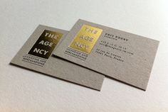 Unique Business Card, The Agency #BusinessCards #Design #GoldFoil
