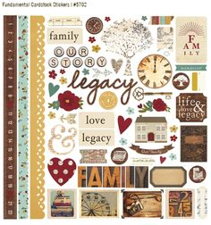 Legacy collection. New from Simple Stories. Summer 2014.