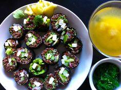 Vegansushi med quinoa, tofu och avokado