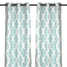 Aqua Maxwell Curtain Panel Set, 84 in. ($28) ❤ liked on Polyvore featuring home, home decor, window treatments, curtains, aqua blue curtains, quatrefoil curtains, patterned curtains, moroccan curtains and aqua curtains