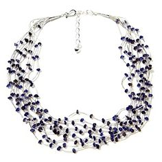Jay King 10-Strand Liquid Silver Iolite Necklace at HSN.com.