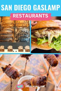 Best San Diego Gaslamp Restaurants from a Local Foodie.  Throughout the city and county of San Diego, California there are plenty of incredible restaurants with amazing fresh and local food.  For the best foodie experience, check out the Gaslamp Quarter and these recommendations from fresh seafood to sweet desserts to sandwiches and burgers and small plates and more.  Looking for places to eat and things to do in San Diego, look no further.  #Gaslamp #GaslampRestaurants #GaslampQuarter #SanDiego