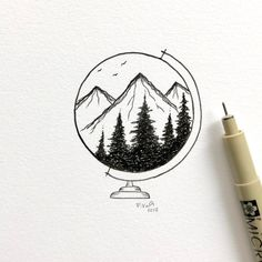 40 Easy Drawing Ideas for Beginners // Things to draw, black and white ink, bujo, nature drawing diy drawings 40 Easy Drawing Ideas for Beginners Easy Doodles Drawings, Easy Doodle Art, Doodle Art Drawing, Art Drawings Sketches Simple, Pencil Art Drawings, Cute Drawings, Painting & Drawing, Drawing Drawing, Beautiful Easy Drawings